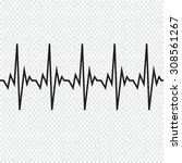 heart beat cardiogram icon | Shutterstock .eps vector #308561267