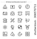 line icon   school and... | Shutterstock .eps vector #308570711
