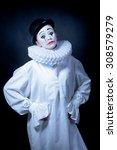 Sad Mime Pierrot
