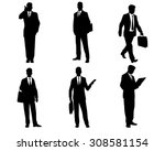 vector illustration of six... | Shutterstock .eps vector #308581154