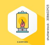 camp light icon with dark grey... | Shutterstock .eps vector #308602925