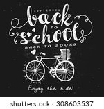 back to school blackboard... | Shutterstock .eps vector #308603537