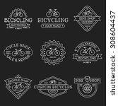 set of vintage and modern... | Shutterstock .eps vector #308604437