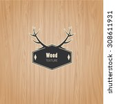 vector wood texture template  | Shutterstock .eps vector #308611931