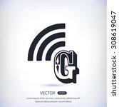 letter g  icon  | Shutterstock .eps vector #308619047