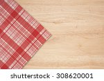 the checkered tablecloth on...   Shutterstock . vector #308620001