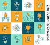 idea creative innovation... | Shutterstock . vector #308621825