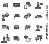 chat communication conversation ...   Shutterstock . vector #308626421