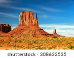 the famous buttes of monument... | Shutterstock . vector #308632535