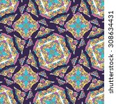 vector seamless pattern ethnic... | Shutterstock .eps vector #308634431