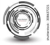 background with circular... | Shutterstock .eps vector #308637221