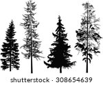 illustration with four black... | Shutterstock .eps vector #308654639