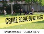 crime scene do not cross tape... | Shutterstock . vector #308657879