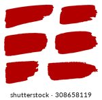 grunge shapes  set  red... | Shutterstock .eps vector #308658119