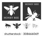 Honey Bee Silhouettes