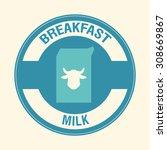 breakfast digital design ... | Shutterstock .eps vector #308669867