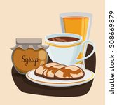 breakfast digital design ... | Shutterstock .eps vector #308669879