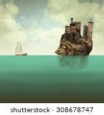 artistic surreal illustration...   Shutterstock . vector #308678747