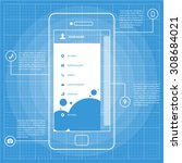 mobile wireframe blueprint app...