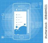 mobile wireframe blueprint app...