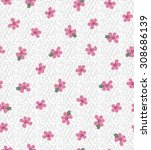 seamless pink flower vector... | Shutterstock .eps vector #308686139