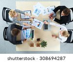 business people sitting and... | Shutterstock . vector #308694287