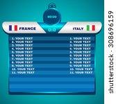 football soccer scoreboard... | Shutterstock .eps vector #308696159
