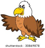 cartoon eagle on white... | Shutterstock .eps vector #30869878