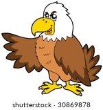 cartoon eagle on white... | Shutterstock .eps vector #30869878