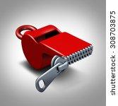 Whistleblower Silence Concept...