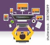 web designer concept... | Shutterstock .eps vector #308708099