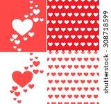 heart background | Shutterstock .eps vector #308718599