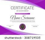 vector certificate template. | Shutterstock .eps vector #308719535