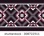 geometric ethnic pattern... | Shutterstock .eps vector #308722511