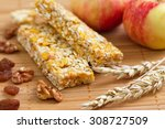 cereal bars of granola with...   Shutterstock . vector #308727509