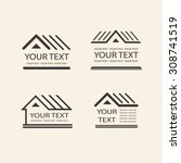 house logo set. template vector ... | Shutterstock .eps vector #308741519