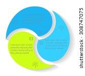 vector round infographic... | Shutterstock .eps vector #308747075