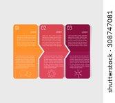 vector paper progress steps for ...   Shutterstock .eps vector #308747081