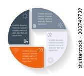 vector round infographic...   Shutterstock .eps vector #308749739