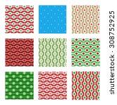 Set Of Nine Seamless Pattern I...
