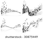 musical designs sets with... | Shutterstock .eps vector #30875449