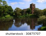 st. eata's church on the river... | Shutterstock . vector #30875707