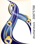 vector gold and blue background ... | Shutterstock .eps vector #30875788