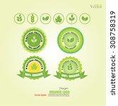 ecology  organic icon set. eco... | Shutterstock .eps vector #308758319