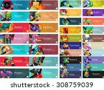 mega collection of vector flat... | Shutterstock .eps vector #308759039
