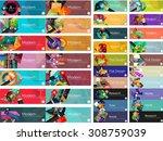 mega collection of vector flat...   Shutterstock .eps vector #308759039