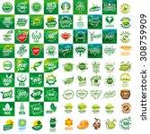 large set of vector logos for... | Shutterstock .eps vector #308759909