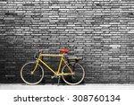 Vintage Bicycle On Roadside...