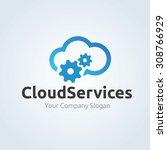 cloud logo cloud services cloud ... | Shutterstock .eps vector #308766929