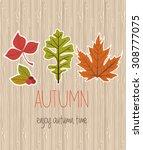 autumn time | Shutterstock .eps vector #308777075